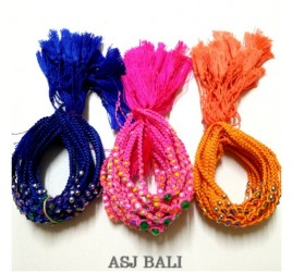 bali friendship hemp bracelets strings three color