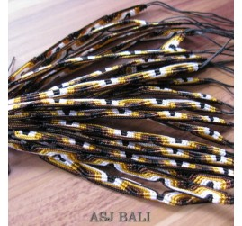 bali hemp bracelets strings rouple golden 20 pcs