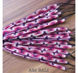 bali hemp bracelets strings motif 20 pcs