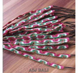 20 pieces hemp bracelets strings nylon motif