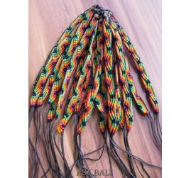 20 pieces hemp bracelets strings rasta