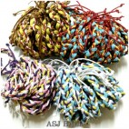 four color leather strings handmade hemp bracelets