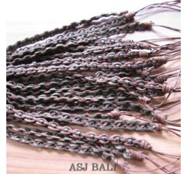 genuine leather hemp bracelets  wired bali