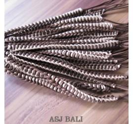 genuine leather hemp bracelets wired style