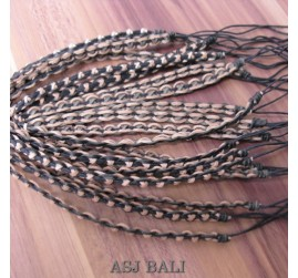 genuine leather hemp bracelets handmade 2color