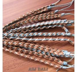 genuine leather hemp bracelets balinese designs