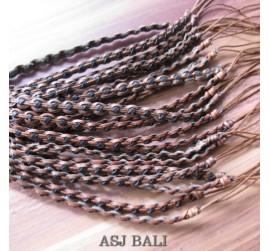 genuine leather hemp bracelets wired for women