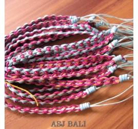 handmade genuine leather hemp bracelets
