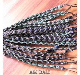 balinese genuine leather hemp bracelets model