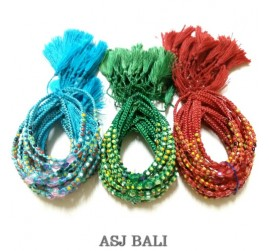 glass beads friendship hemp bracelets strings