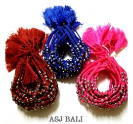 hemp bracelets handmade tassels three color