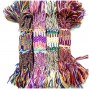 mix color hemp roupe string woven bracelets