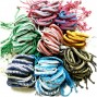 multi color leather hemp bracelet bulk package