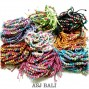 multi mix color bulk hemp bracelet leather beads