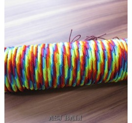 rainbow hemp bracelet strings bali