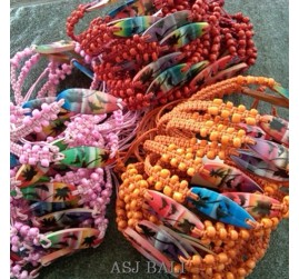 three color shown hemp bracelet surf bali
