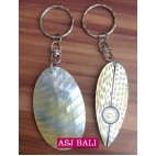 hand carved seashells keychain rings bali