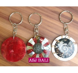 handmade seashells keychain rings bali
