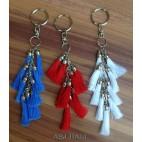 multiple tassels keychain rings handmade bali
