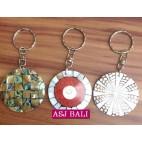 paua seashells keychain rings resin accessories bali