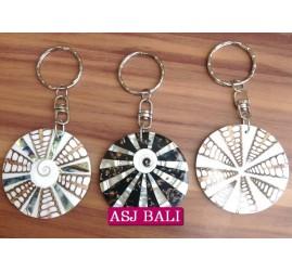 seashells keychain rings accessories bali