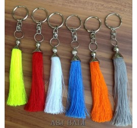 mix color tassels keychain rings handmade bali