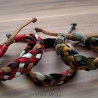 3color hemp bracelet genuine leather designs
