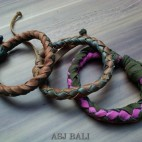 3color hemp bracelet designs genuine leather