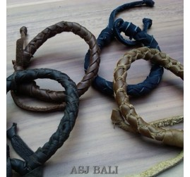 4color hemp bracelet genuine cow leather