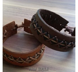 bali genuine cow leather bracelets for men coboy