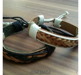 bali genuine cow leather bracelets for men design