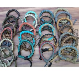 bulk genuine leather hemp bracelets wired wholesale