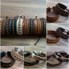 genuine cow leather bracelet for men made in bali