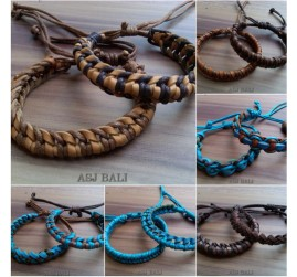 genuine leather bracelet for men made in bali