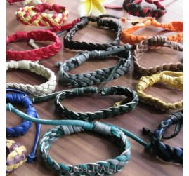 leather bracelet hemp wired designs mix
