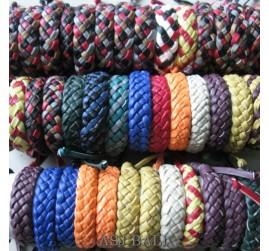 mix color bulk designs hemp bracelet leather