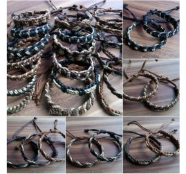 natural straw leather bracelets ethnic designs