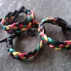 three color leather hemp bracelets designs