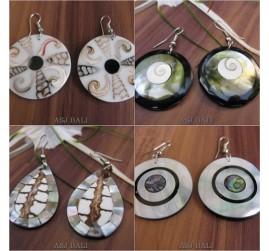 4model seashells earrings handmade design