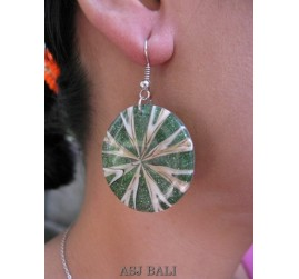 bali unique seashells earrings resin handmade