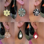 6 model bali seashells earrings resin handmade