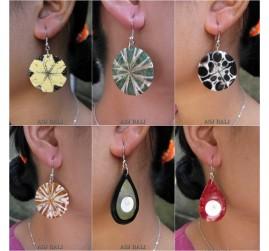 6 model bali seashells earrings resin handmade