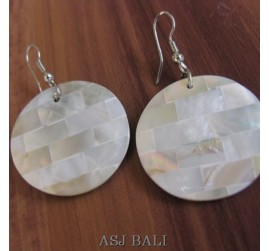 natural handmade seashells earrings bali