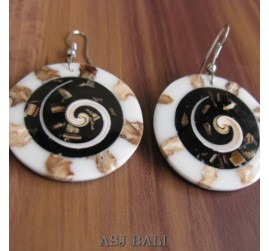 handmade seashells earrings bali style