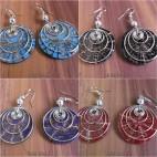resin seashells earrings steel spiral 4color