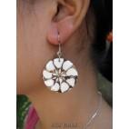 seashells earrings resin motif bali handmade