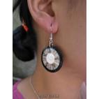seashells earrings resin nautilus handmade