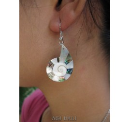 seashells earrings resin nautilus handmade bali