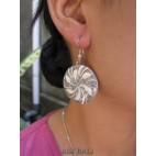 seashells earrings resin sand stone handmade