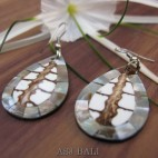 ocean shell natural resin earring hooked handmade